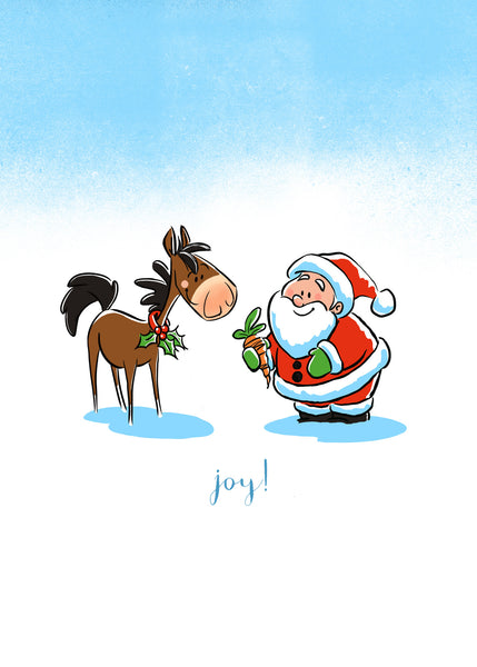 Horse Gift Christmas Greeting Card