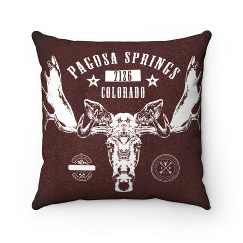 Pagosa Springs Moose Throw Pillow