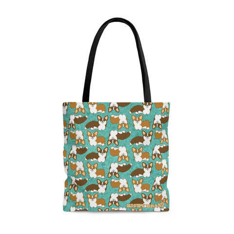 Corgi Crazy Tote Bag - Patina
