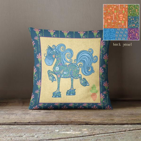 Equifauna Fancy Throw Pillow