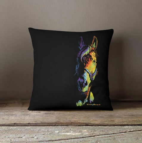 Equifunk Throw Pillow