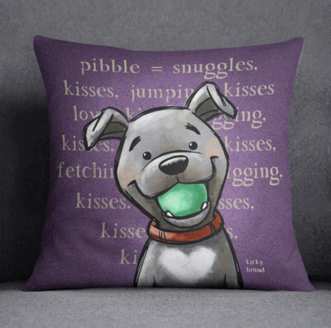 Pibble Throw Pillow