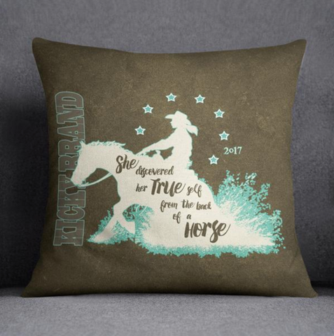 """Her True Self"" Pillow - Reining"