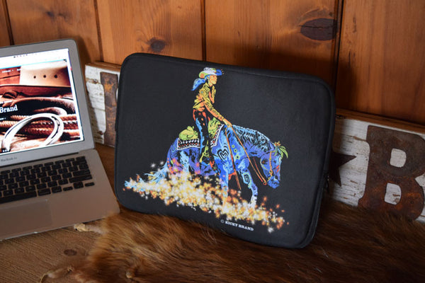 Reining Horse Laptop Cover Sleeve