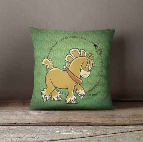 Sport Horse Draftie Throw Pillow