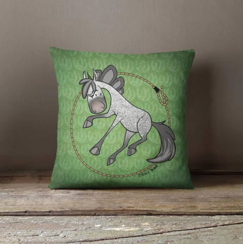 Sport Horse Roper Throw Pillow