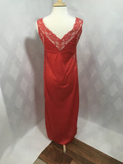 Sizzling Hot 1960s Full Length Red Lace Negligie