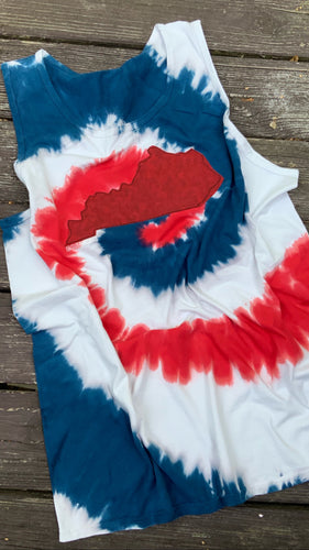 Patriotic Tie Dye KY Tank - The Monogram Shoppe KY