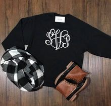 Load image into Gallery viewer, Large Center Chest Monogram Sweatshirt - The Monogram Shoppe KY