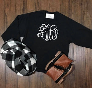 Large Center Chest Monogram Sweatshirt - The Monogram Shoppe KY