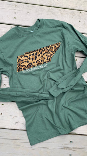 Leopard TN Long Sleeve - The Monogram Shoppe KY