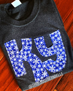 Snowflake KY Sweatshirt - The Monogram Shoppe KY