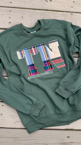 Tartan Plaid TN Long Sleeve - The Monogram Shoppe KY