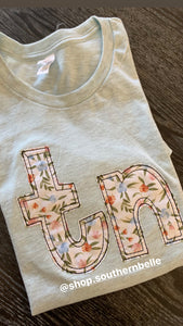 Floral TN Soft Short Sleeve - The Monogram Shoppe KY