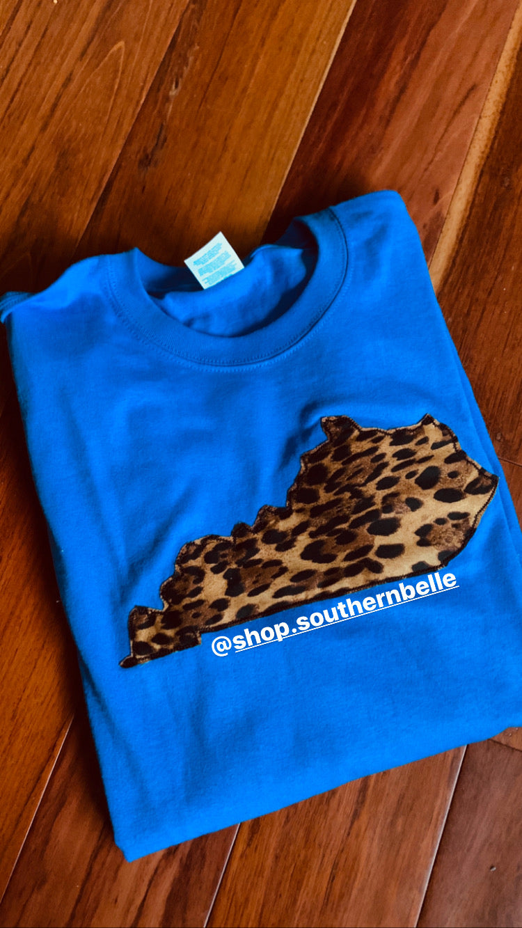 KY Leopard Sweatshirt - The Monogram Shoppe KY