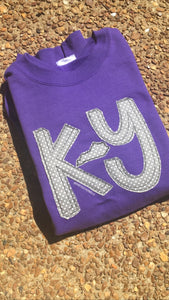 Purple KY Short Sleeve T - The Monogram Shoppe KY