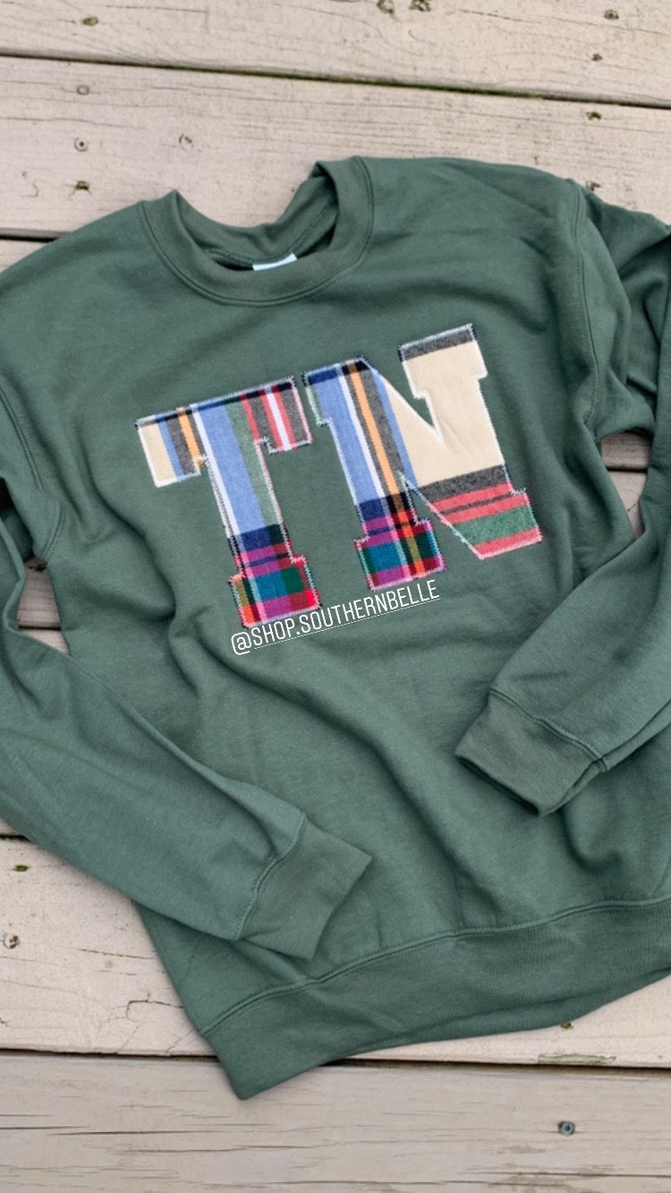 Tartan TN Sweatshirt - The Monogram Shoppe KY