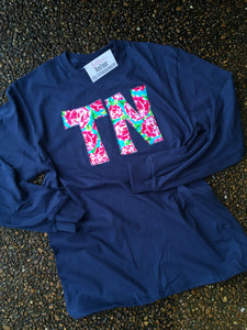 Floral Tennessee Long Sleeve T - The Monogram Shoppe KY