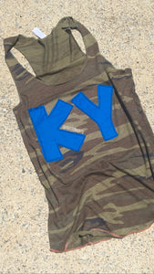 Camo KY Tank Ladies cut - The Monogram Shoppe KY