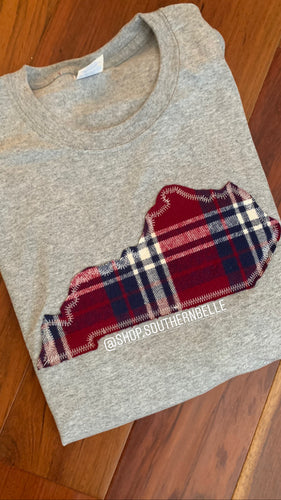 SALE Plaid KY Sweatshirt