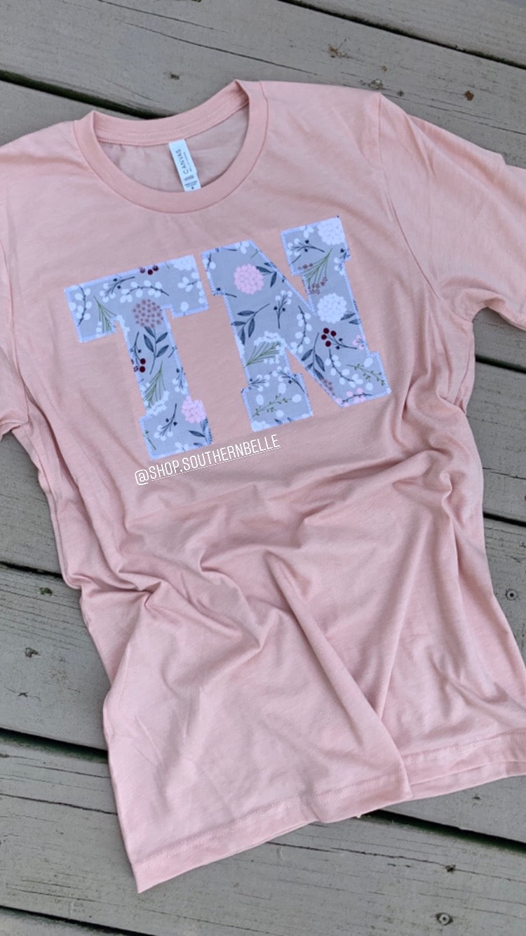Peach TN Soft Short Sleeve - The Monogram Shoppe KY
