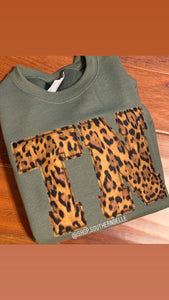 TN Leopard Sweatshirt - The Monogram Shoppe KY