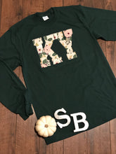 Load image into Gallery viewer, Hunter Green Floral Long Sleeve - The Monogram Shoppe KY