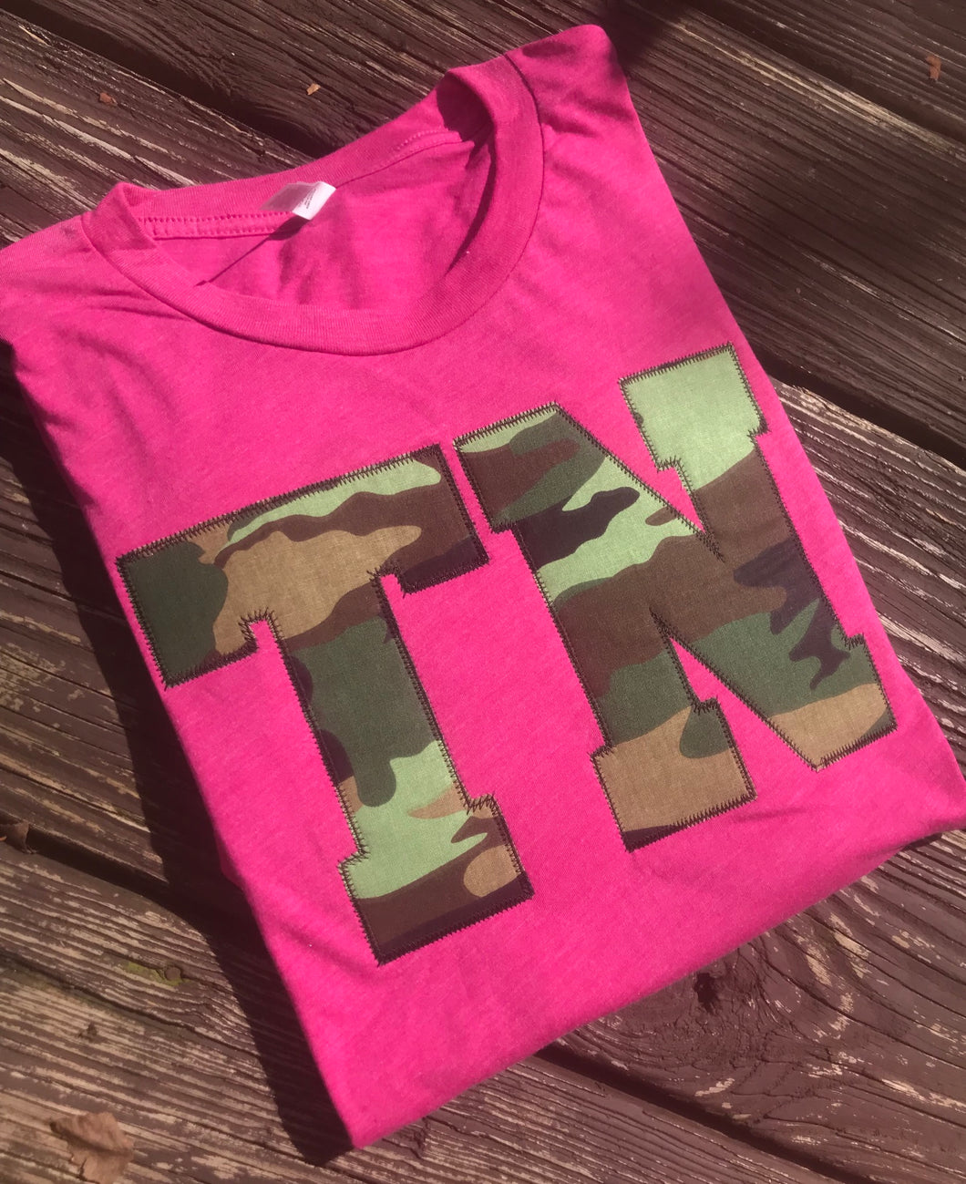 Tennessee Camo Berry Triblend Soft T - The Monogram Shoppe KY