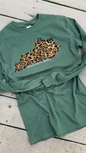 Leopard Long Sleeve - The Monogram Shoppe KY