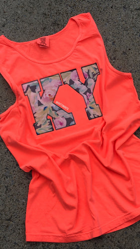 Comfort Color Neon Floral KY Tank - The Monogram Shoppe KY