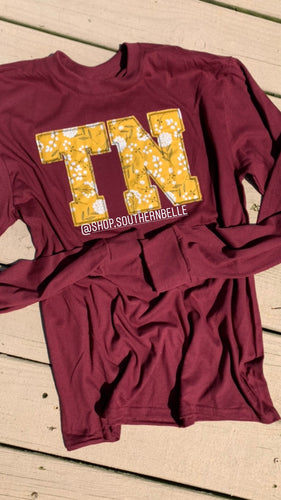 Maroon TN Long Sleeve - The Monogram Shoppe KY