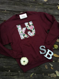 Maroon Kentucky Floral Sweatshirt - The Monogram Shoppe KY