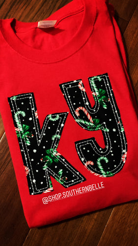 SALE Candy Cane Short Sleeve