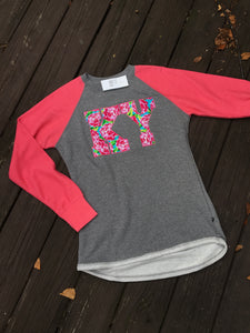 Floral Kentucky Hi Low Ladies Terry Top - The Monogram Shoppe KY