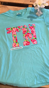 Comfort Color Floral TN Short Sleeve - The Monogram Shoppe KY