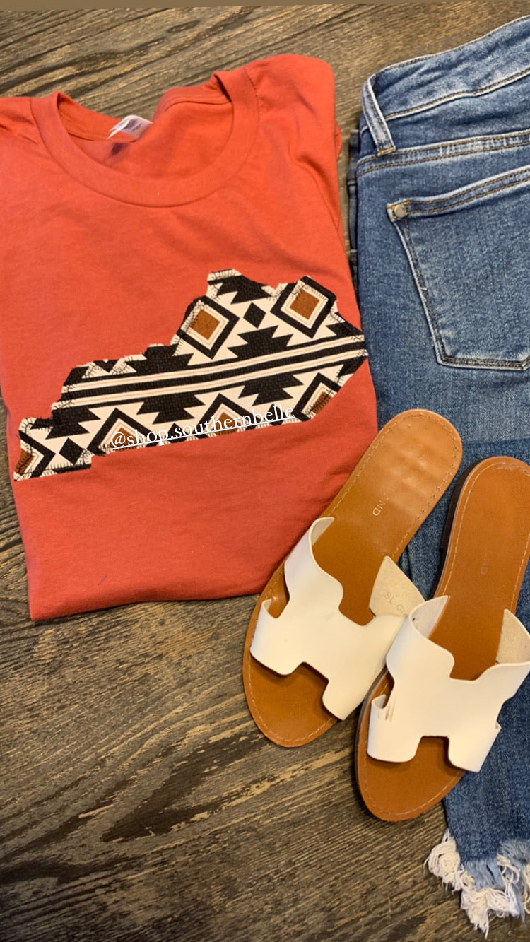 Aztec Short Sleeve Soft T -- ANY STATE