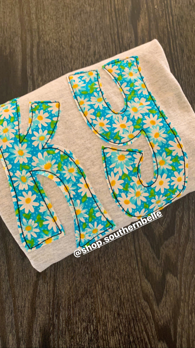 Floral Short Sleeve KY T - The Monogram Shoppe KY
