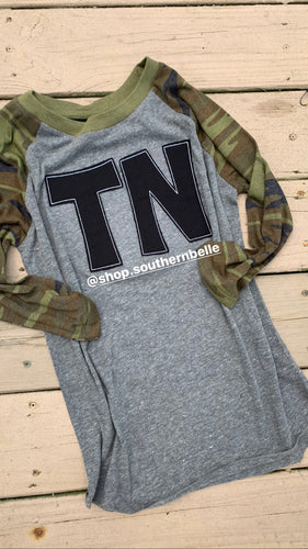 Camo TN Soft Raglan - The Monogram Shoppe KY