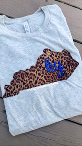 KY Leopard Short Sleeve Soft T - The Monogram Shoppe KY