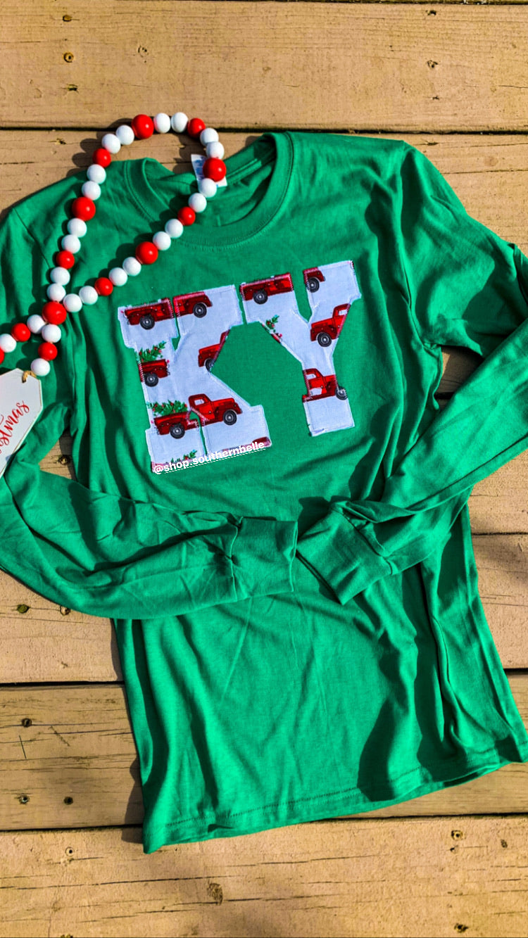 Kentucky Christmas Truck Long Sleeve