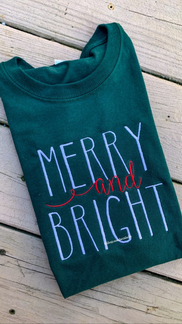 SALE Merry and Bright Short Sleeve