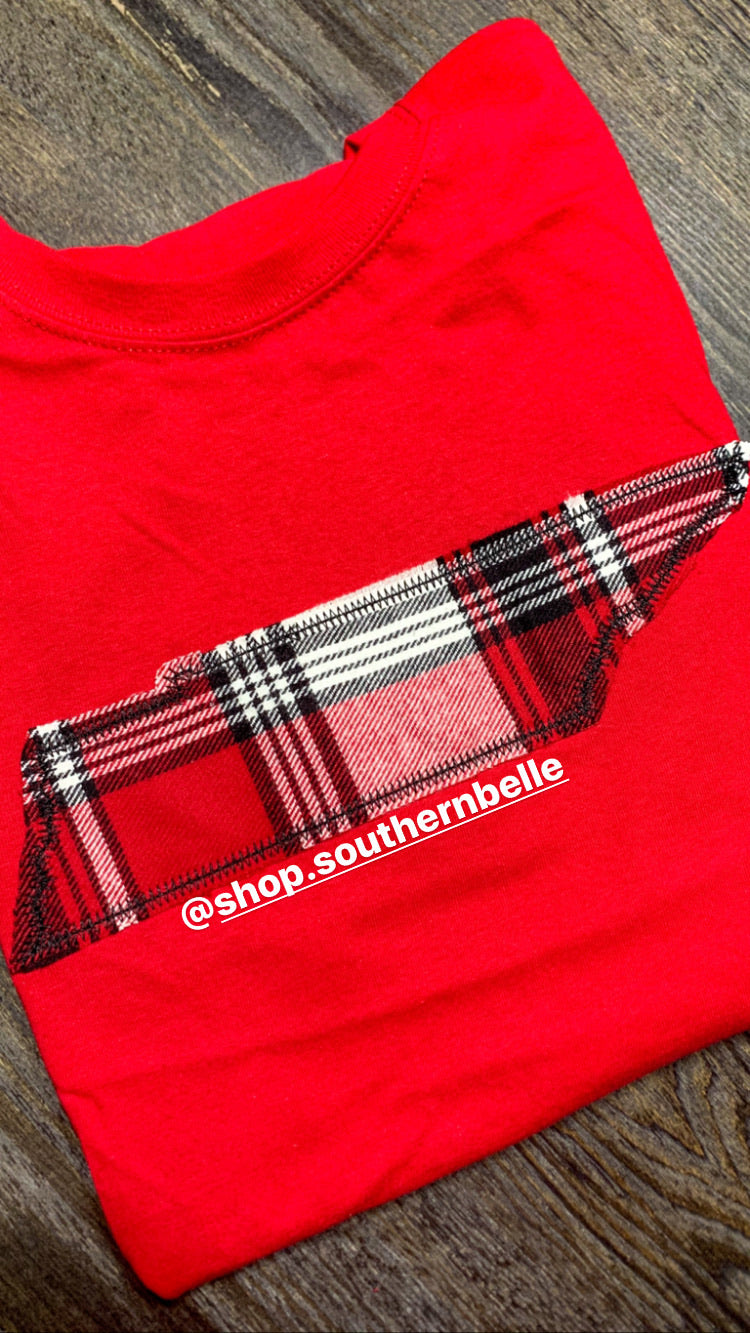 TN Red Plaid Sweatshirt