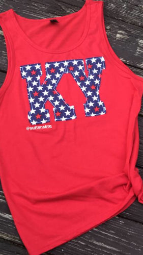 Patriotic Tank in Red - The Monogram Shoppe KY