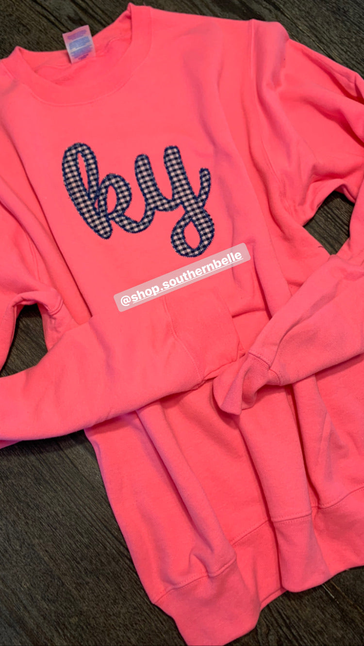 Neon Pink Kentucky Sweatshirt - The Monogram Shoppe KY