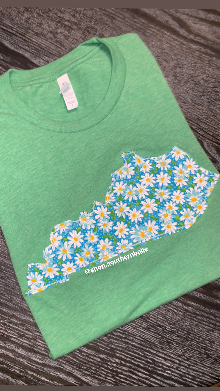 KY Daisies Short Sleeve Soft T - The Monogram Shoppe KY