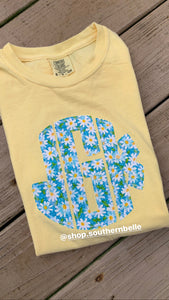 Butter Monogram Comfort Color - The Monogram Shoppe KY