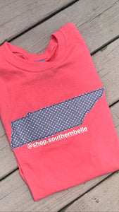 Grey Dot Tennessee TN Coral Short Sleeve T