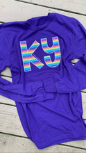 Load image into Gallery viewer, Purple Stripe KY Long Sleeve