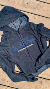 KY Crop Top Hoodie Ladies Cut