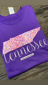 Floral TN Short Sleeve T - The Monogram Shoppe KY